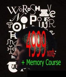4999 words plus Memory Course (audiobook)